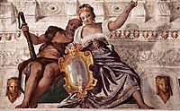 Prudence and Manly Virtue, 1560-61, veronese