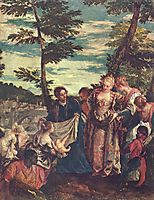Rescue of Moses from the waters of the Nile, c.1580, veronese
