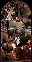 Sts Mark, James and Jerome with the Dead Christ Borne by Angels, 1581-82, veronese