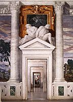 View from the Sala dell-Olimpo, facing east, 1560-61, veronese