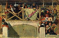 At the Corrida, 1875, vibert