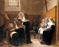 The Convent Choir, 1865, vibert