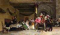 The Departure of the Newlyweds, 1873, vibert