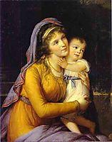 Baroness Anna Sergeevna Stroganova and Her Son Sergey, 1793, vigeelebrun