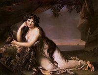 Lady Hamilton as Ariadne, 1790, vigeelebrun