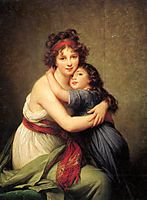 Madame Vigee Lebrun and her daughter, Jeanne Lucie Louise, 1789, vigeelebrun