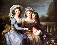 The Marquise de Pezay, and the Marquise de Rougé with Her Sons Alexis and Adrien, 1787, vigeelebrun