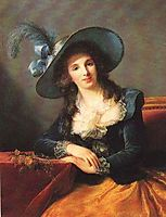 Portrait of Antoinette Elisabeth Marie d-Aguesseau, countess of Ségur , 1785, vigeelebrun