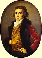 Portrait of Baron Grigory Alexandrovich Stroganoff, 1793, vigeelebrun