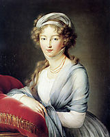 Portrait of Empress Elisabeth Alexeievna of Russia, 1795, vigeelebrun