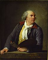 Portrait of Hubert Robert , 1788, vigeelebrun