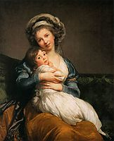 Self Portrait with Her Daughter, Julie, 1786, vigeelebrun