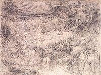 Deluge over a city, c.1517, vinci