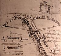 Design for an enormous crossbow, c.1500, vinci