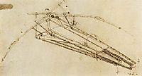 Design for a flying machine, c.1488, vinci