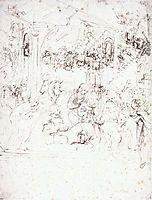 Design for the Adoration of the Magi, 1478-1481, vinci