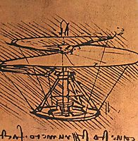 Design for a helicopter, c.1500, vinci