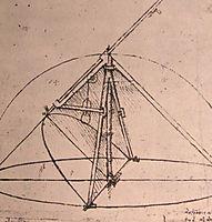 Design for a parabolic compass, c.1500, vinci