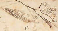 Designs for a Boat, c.1485, vinci