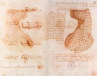 Double manuscript page on the Sforza monument (Casting mold of the head and neck), c.1493, vinci