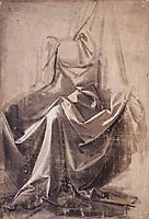 Drapery for a seated figure, vinci