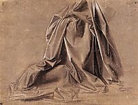 Drapery for a seated figure, vinci
