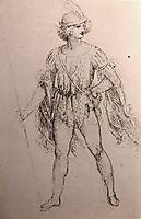 Drawing of a fancy dress costume, c.1500, vinci