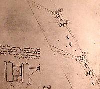 Drawing of locks on a river, c.1500, vinci