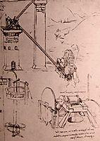 Drawings of machines, c.1500, vinci