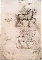 Equestrian monument, 1517-1518, vinci