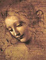 Head of Dishevelled Young Girl (Leda), 1508, vinci