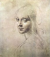 Head of a girl, 1483, vinci
