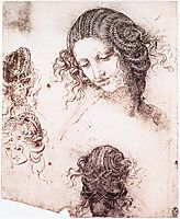 Head of Leda, 1503-1507, vinci