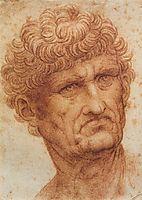 Head of a Man, 1503-1505, vinci