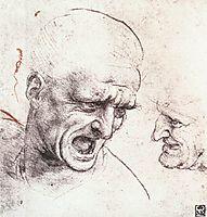 Head studies, 1504-1505, vinci