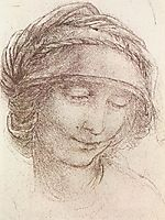 Head of a woman, 1508, vinci