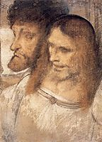 Heads of Sts Thomas and James the Greater, vinci