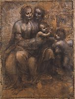 Madonna and Child with Saint Anne and the Young Saint John, 1507-1508, vinci