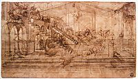 Perspectival study of the Adoration of the Magi, 1481, vinci