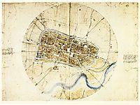 A plan of Imola, 1502, vinci