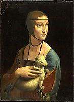 Portrait of Cecilia Gallerani or Lady with an Ermine, 1489-1490, vinci