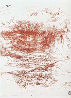 Storm over a landscape, c.1500, vinci