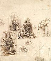 Studies for a Nativity, vinci