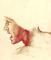 Study of a Figure for the Battle of Anghiari, vinci