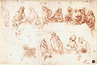 Study for the Last Supper, 1494-1495, vinci