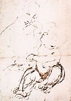 Study for the Madonna with the Fruit Bowl, 1478, vinci