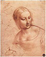 Study for Madonna with the Yarnwinder, 1501, vinci