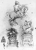 Study for the Trivulzio Equestrian Monument, 1511, vinci
