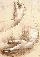 Study of hands, 1474, vinci