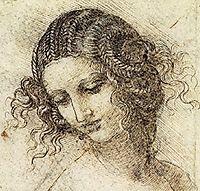 Study for the Head of Leda, c.1506, vinci